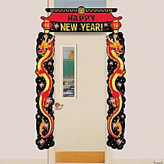 Chinese New Year Dragon Door Border