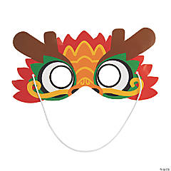 Chinese New Year Dragon Paper Masks