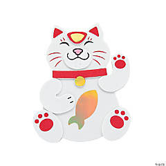 Chinese New Year Lucky Cat Magnet Craft Kit