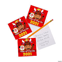 Chinese New Year of the Ox Notepads
