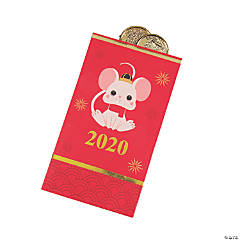 Chinese New Year of the Rat Red Money Bags