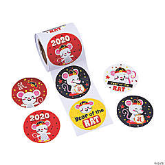 Chinese New Year of the Rat Stickers