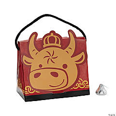 Chinese New Year Ox Tent Favor Boxes with Handle