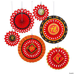 Chinese New Year Tissue Hanging Fans