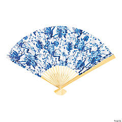 Chinoiserie Print Folding Hand Fans