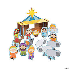 Chipboard Nativity Playset