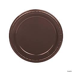 Chocolate Brown Plastic Dinner Plates
