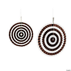 Chocolate Brown Stripe Hanging Fans