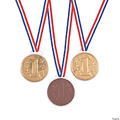 Chocolate Candy Award Medals