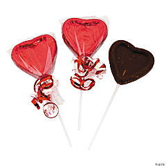 Chocolate Valentine Candy Heart Suckers