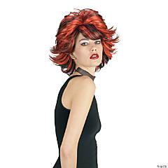 Choppy Red & Black Wig