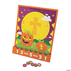 Christian Pumpkin Disc Drop Game