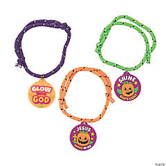 Christian Pumpkin Friendship Rope Bracelets