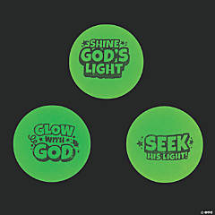 Christian Pumpkin Glow-in-the-Dark Bouncy Balls