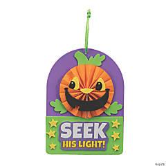 Christian Pumpkin Mini Paper Fan Craft Kit