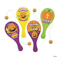 Christian Pumpkin Paddle Ball Games