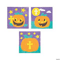 Christian Pumpkin Sand Art Pictures - 12 Pc.