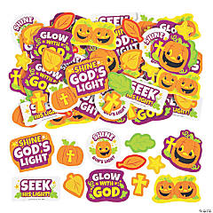 Christian Pumpkin Self-Adhesive Shapes