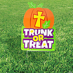 Christian Pumpkin Trunk-Or-Treat Yard Sign
