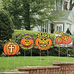 Christian Pumpkin Yard Stakes