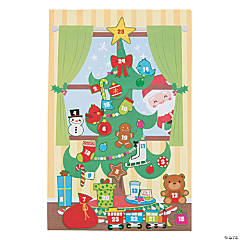 Christmas Advent Calendar Sticker Scenes