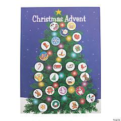 Christmas Advent Tree Sticker Scene