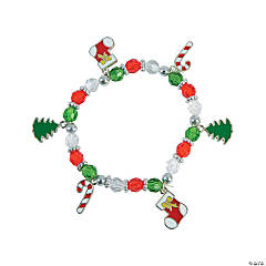 Christmas Beaded Charm Bracelet Craft Kit