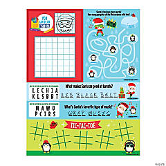 Christmas Big Mouth Fold-Up Activity Sheets
