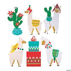 Christmas Cactus & Llama Cutouts