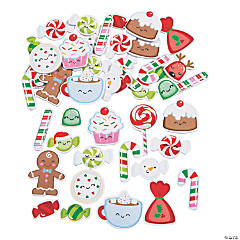 Christmas Candy Self-Adhesive Shapes
