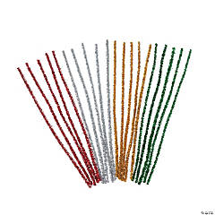 Christmas Colored Metallic Chenille Stems