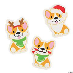 Christmas Corgi Erasers