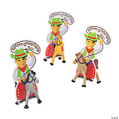 Christmas Cowboy Bendables with Card