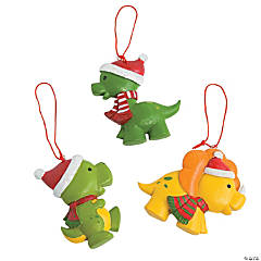 Christmas Dinosaur Ornaments