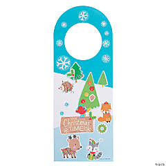 Christmas Doorknob Hanger Sticker Scenes