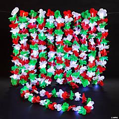 Christmas Flashing Light-Up Polyester Leis - 12 Pc.