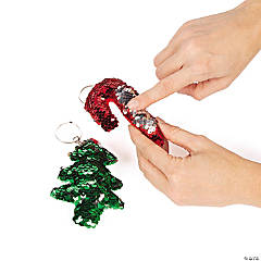Christmas Flipping Sequin Keychains PDQ