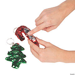 Christmas Flipping Sequin Keychains