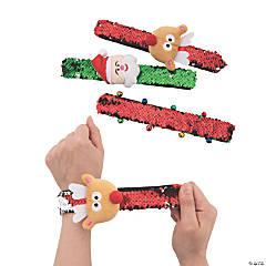 Christmas Flipping Sequin Slap Bracelets