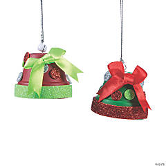 Christmas Flower Pot Bell Ornament Craft Kit