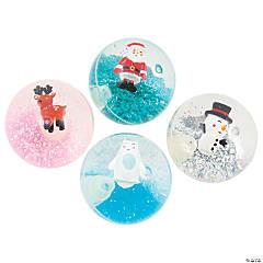 Christmas Glittered Water Bouncy Balls - 12 Pc.