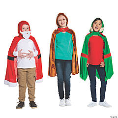 Christmas Hooded Cape Costumes