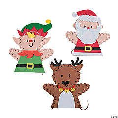 Christmas Lacing Puppet Craft Kit