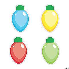 Christmas Light Bulb Bulletin Board Cutouts