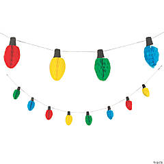 Christmas Light Honeycomb Tissue Paper Garland
