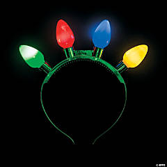 Christmas Light-Up Bulbs Head Boppers