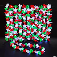 Christmas Light-Up Polyester Leis