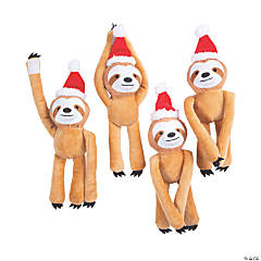 Christmas Long Arm Stuffed Sloths