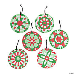 Christmas Mandala Sand Art Picture Ornaments