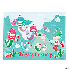 Christmas Mermaid Sticker Scenes